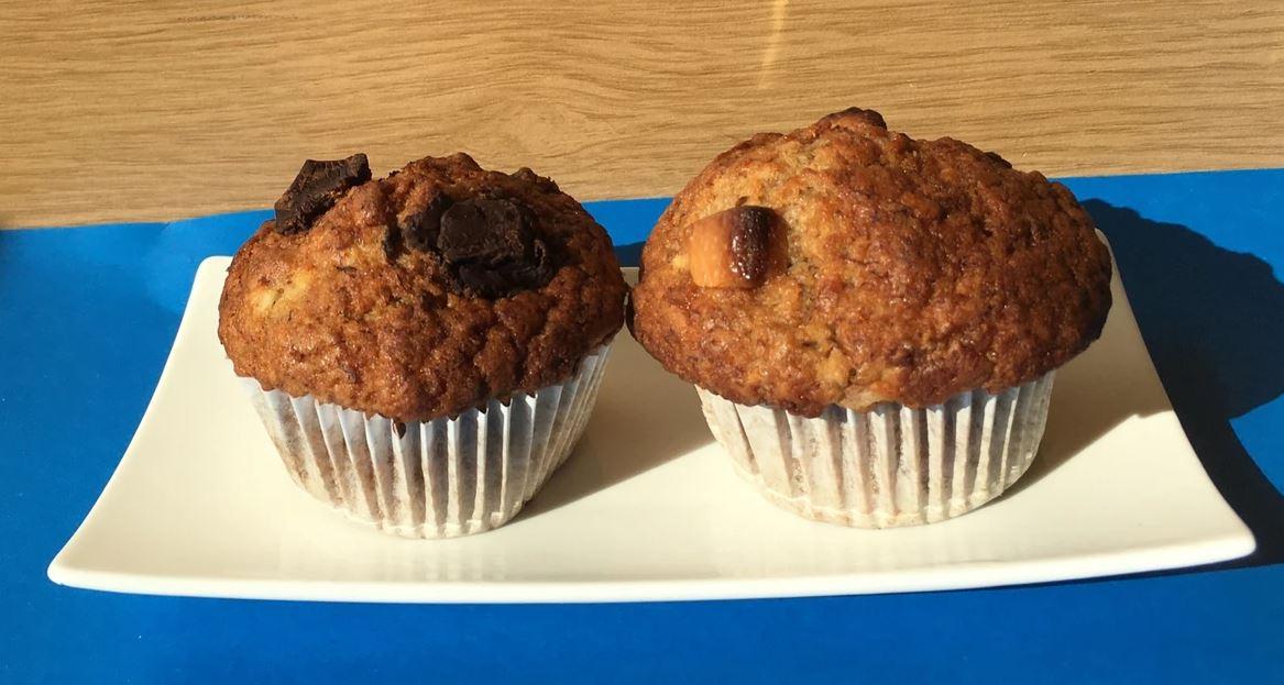muffinki bananowe zkawałkami czekolady